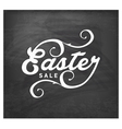 Easter Sale Typographical Text on Chalkboard vector image vector image