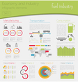 Economy and industry Fuel industry Industrial vector image vector image