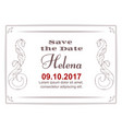 elegant white card for an invitation to an vector image vector image