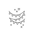 flag garlands icons symbol a holiday party vector image