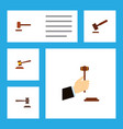 flat icon hammer set of hammer defense justice vector image vector image