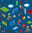football or soccer game seamless pattern vector image