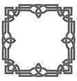 frame with celtic ornament vector image vector image