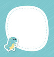 greeting card with cute dinosaur greeting card vector image vector image