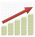 Growth of Dollars American Banknotes Cash Money vector image vector image