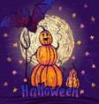Halloween pumpkin character vector image vector image