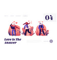 happy loving couples outdoors sparetime website vector image vector image