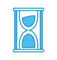 hourglass sand timer vector image vector image