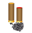 hunting cartridges vector image vector image