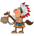 Indian Chief With Gun On Horse vector image