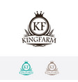 king farm logo vector image