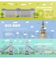 London tourist landmark banners vector image