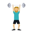 male athlete practicing weight lifting isolated vector image vector image