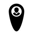 map marker icon male user person profile avatar vector image vector image