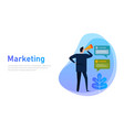 marketing banner concept businessman communicates vector image