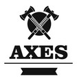 military axe logo simple black style vector image vector image