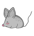 mouse wild animal cartoon vector image