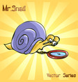 mr snail with search vector image vector image