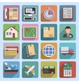 Multicolored logistic icons flat vector image