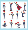 office worker business man characters adult in vector image