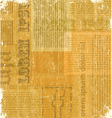 Old newspaper texture vector image