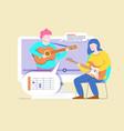 online guitar course vector image