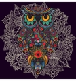 ornamental owl Bird vector image vector image