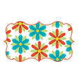 pattern shape label spring floral natural design vector image