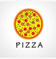 pizza logo concept vector image
