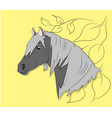 portrait of a horse on a colored background vector image