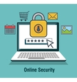 protecting computing code security desing isolated vector image vector image