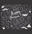 purim sketch doodles hand drawn set traditional vector image vector image