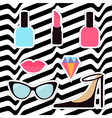 Quirky cartoon sticker patch badge set Woman vector image vector image