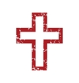 Red grunge Christianity logo vector image