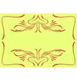 retro floral swirl vector image vector image