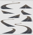 road set collection on a transparent background vector image