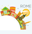 rome skyline with color buildings blue sky and vector image vector image