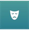 Sadness mask flat icon vector image