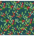 Seamless vintage green pattern with Christmas vector image vector image