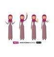 set of emotions arab business woman