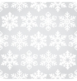 Snowflakes seamless pattern background vector image vector image