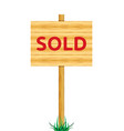 sold board vector image vector image