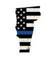 state vermont police support flag vector image vector image