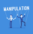string manipulation puppet people vector image
