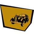 stylized image a car from 40s vector image