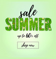 summer sale up to 60 percent discount vector image vector image