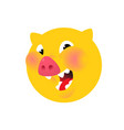 the head a pig yellow logo symbol for the vector image vector image