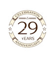 twenty nine years anniversary celebration logo vector image vector image