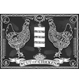 Vintage Blackboard of English Cut of Chicken vector image