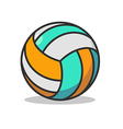 Volleyball ball isolated Sports accessory for vector image
